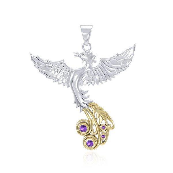 Soar as high as the Flying Phoenix ~ Sterling Silver